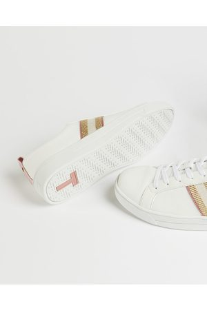 Ted Baker Leather Metallic Detail Webbing Trainers