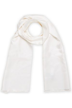 Amanda Christensen Ceremony Self Fringes Scarf White