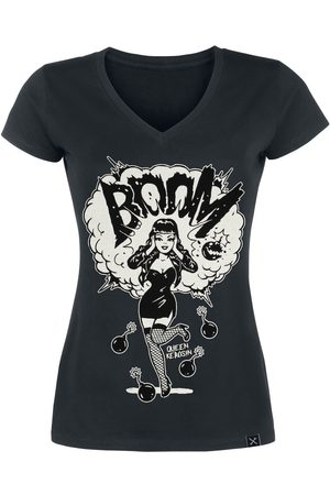 Queen Kerosin Damen T-Shirts, Polos & Longsleeves - Boom T-Shirt