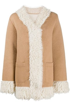 Barrie Mantel mit Shearling