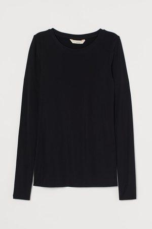 H&M Ribbed silk-blend top