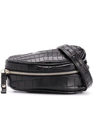 Cornelian Taurus By Daisuke Iwanaga Crocodile-effect saddle belt bag