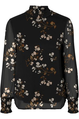 Vero Moda Damen Tops & T-Shirts - Floral Printed Long Sleeved Top Damen