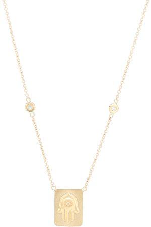 JACQUIE AICHE Halskette Hamsa aus 14kt Gelbgold mit Diamanten
