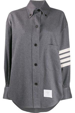 Thom Browne Damen Sommerjacken - Hemdjacke mit Streifen