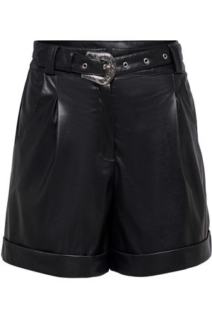 Only Faux Leather Shorts Damen