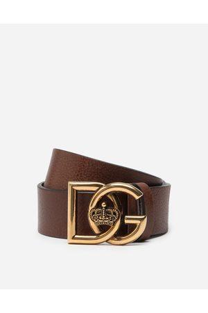 Dolce & Gabbana GÜrtel aus gewalktem leder mit Überkreuztem dg-logo