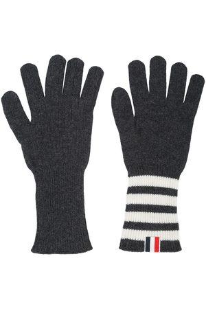 Thom Browne Herren Handschuhe - Kaschmirhandschuhe mit Intarsien-Streifen