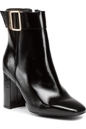 Tommy Hilfiger Patent Square Toe Boot FW0FW05156 Black BDS