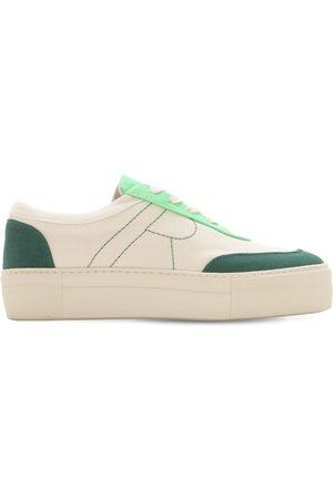 "REJINA PYO 30mm Hohe Sneakers Aus Baumwollcanvas ""bailey"""