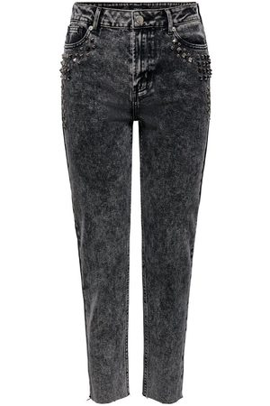 Only Onlwild Emily Hw Acid Ankle Straight Fit Jeans Damen