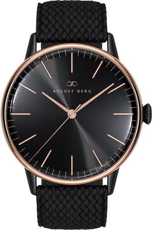 August Berg Uhr Serenity Noir Black With Top Ring Perlon 40mm