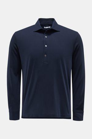 04651/ Herren - Longsleeve-Poloshirt navy