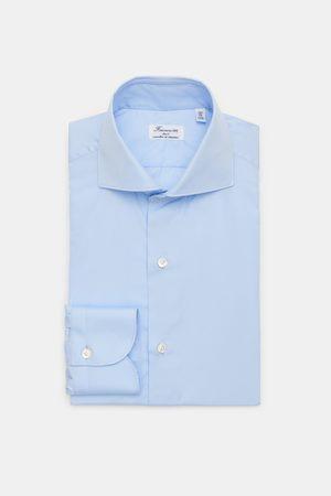 Finamore Business Hemd 'Eduardo Milano' Haifisch-Kragen hellblau