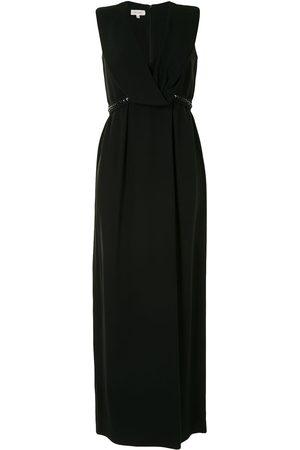 Delpozo Langes Kleid mit V-Ausschnitt