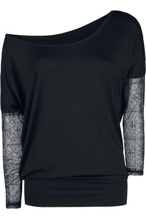Gothicana Damen Longsleeves - Spiderweb Ladies Tee Langarmshirt