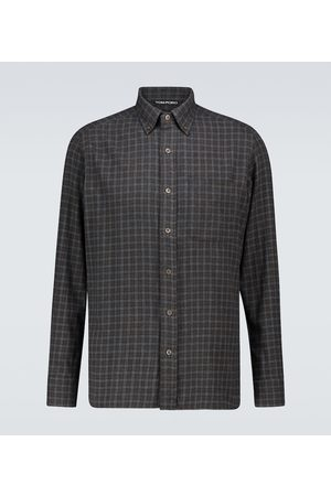 Tom Ford Kariertes Hemd aus Baumwollflanell