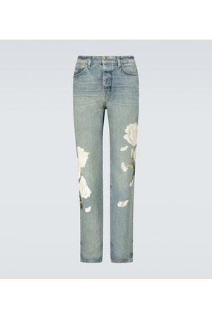 AMIRI Bedruckte Straight Jeans