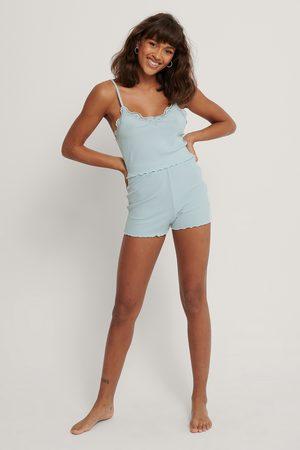 NA-KD Babylock Lounge Shorts - Blue