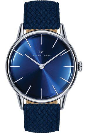 August Berg Uhr 'Serenity Deep Blue Silver Blue Perlon 32mm