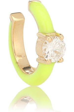Melissa Kaye Einzelner Ear Cuff Aria U aus 18kt Gelbgold mit Diamant