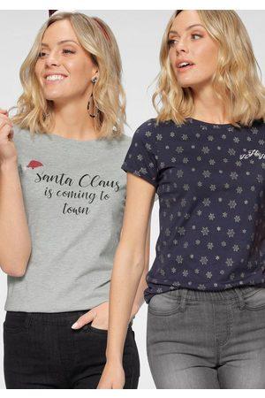 FLASHLIGHTS T-Shirt »X-Mas« (Packung, 2-tlg) mit Weihnachtsmotiven