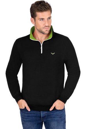 Trigema Sweatshirt mit Kragen und Reißverschluss