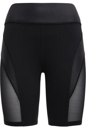 MICHI Shorts Aus Baumwolle Mit Druck Und Meshbesatz