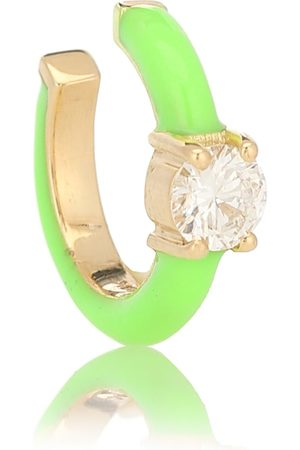 Melissa Kaye Ear Cuff Aria U aus 18kt Gelbgold mit Diamanten