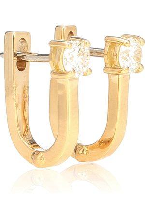 Melissa Kaye Ohrringe Aria U aus 18kt Gelbgold mit Diamanten