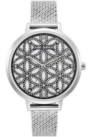 JULIE JULSEN Uhren - Quarzuhr »Flower of Life Sparkling Silver, JJW1235G38-SME«