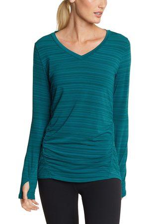 Eddie Bauer Trail Light Shirt - geringelt Damen Grün Gr. XS