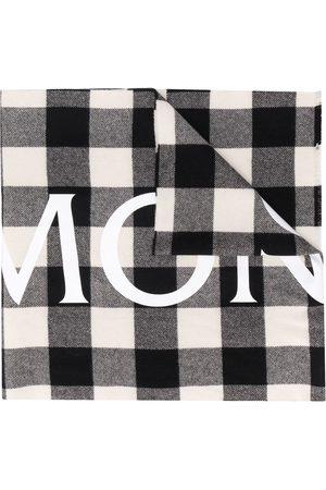 Moncler Karierter Schal mit Logo