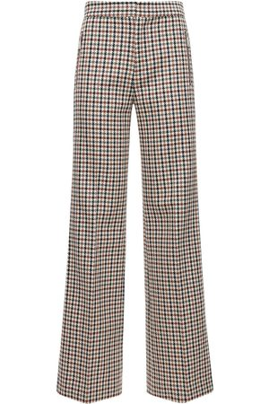 AREA Houndstooth Wide Leg Pants W/crystals