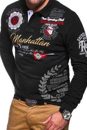 behype Poloshirt »MANHATTAN« mit langen Ärmeln