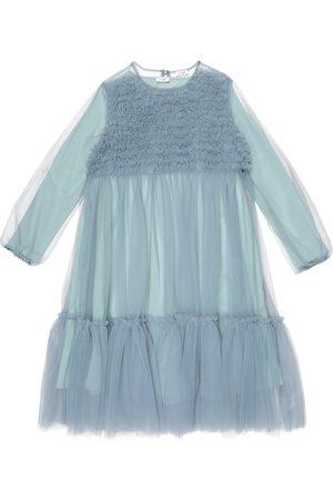 Il gufo Kleid aus Tüll und Jersey