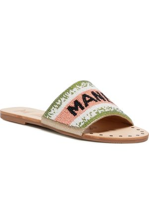MANEBI Leather Sandals S 3.8 Y0 Rose Green