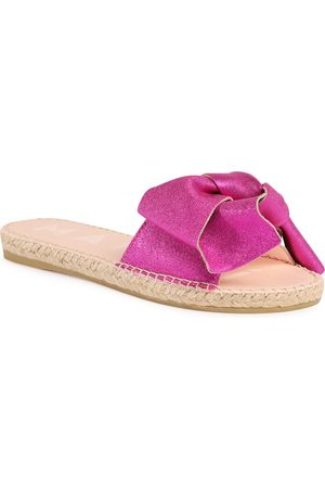 MANEBI Sandals With Bow O 1.3 J0 Metallic Fuxia