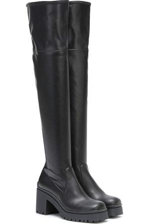 Miu Miu Overknee-Stiefel aus Leder