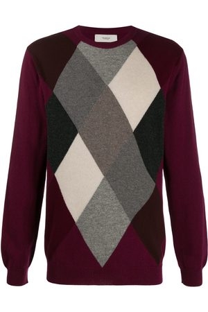 PRINGLE OF SCOTLAND Kaschmirpullover mit Argyle-Muster