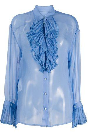 Maison Margiela Sheer-Bluse mit Rüschen