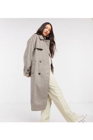 ASOS ASOS DESIGN Tall – Trenchcoat aus gebürstetem Twill in