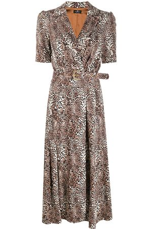 Elisabetta Franchi Kleid mit Leoparden-Print