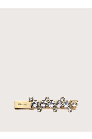 Salvatore Ferragamo Damen Haarschmuck - Damen Fantasia hairclip with rhinestones