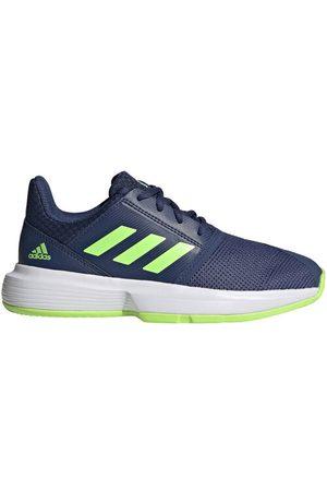 "adidas Tennisschuhe ""CourtJam"", atmungsaktiv, leicht, für Kinder, navy/neongrün, 38 2/3"