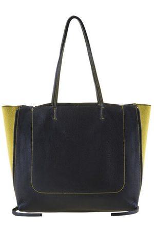 Mywalit Rhodes Shopper Tasche Leder 36 cm, black/yellow