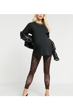 ASOS ASOS DESIGN Maternity – Leggings mit Animalprint