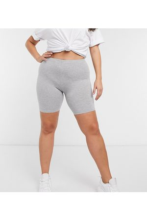 ASOS ASOS DESIGN Curve – Kurze Basic-Leggings in Kalkgrau