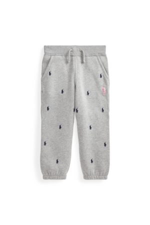 Ralph Lauren Fleece-Jogginghose mit Pink Pony
