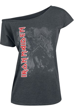 Iron Maiden Damen T-Shirts, Polos & Longsleeves - Trooper T-Shirt meliert